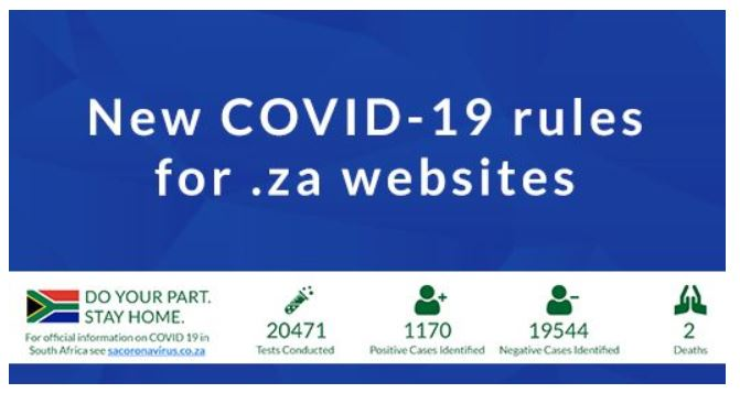 COVID 19 Website Banner