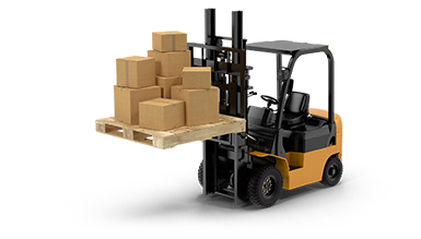 inventory-management-forklift-with-pallet-of-boxes